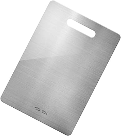 Rajendram 304 Stainless Steel Chopping Board with Scale Anti-Rust Antibacterial Durable Cutting Boards