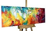 KunstLoft Dipinto Acrilico 'Futuro Luminoso' 150x50cm Tela...