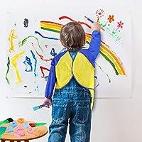 Pennelli Spugna per Pittura per Bambini Early Learning Kids Set 48 Pezzi tra Cui spugnetta, Pennello per Fiori, Grembiule Impermeabile a Manica Lunga e 26 Lettere, Giocattolo fai da te per età 3-6 #5