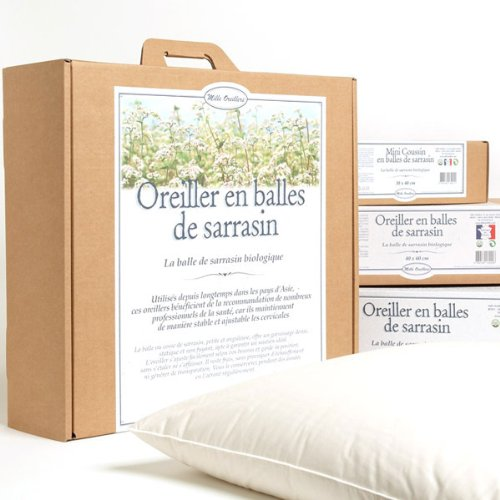 MILLE OREILLERS Oreiller Sarrasin Bio 40 x 60 cm