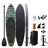 YILUFU Tablas Paddle Surf, Paddle Surf Hinchable Tabla Surf Set, Kayak Rigido para Adultos Sup Kit con Remo de Aluminio + Bomba +Accesorios Completos