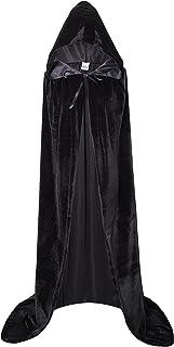 ハロウィン マント フード付 肩下約140cm ベルベット調 コスプレ衣装 死神 魔女 マント 仮装 パーティー コスチューム 男女兼用