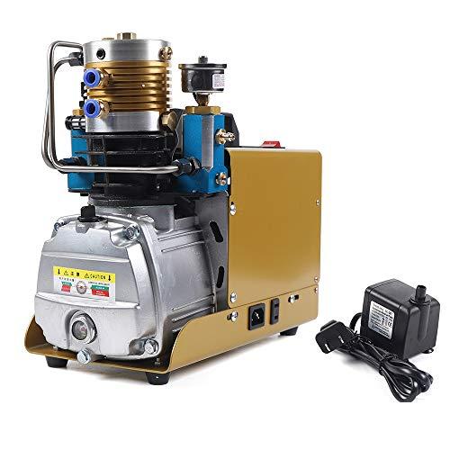 Hochdruck Luftkompressor Automatisch Stopp Kompressor 30MPA 4500PSI 1800W Elektrische Hochdruck PCP Luftpumpe + Öl-Wasser-Abscheider, 130L / Min, Druck Einstellbar