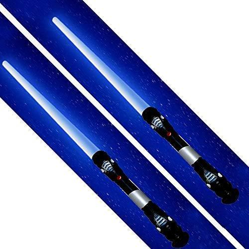 tevenger 2 x Laserschwert Lichtschwert Sound Licht Vibration 108 cm nach Wahl, Lichtschwert:blau / blau