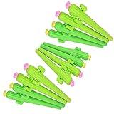 Cosanter 12 x Kawaii Kaktus Gelschreiber Kleine Stifte Geschenk Kugelschreiber Lustig Kreativer Bürobedarf Schulbedarf Schreibwaren