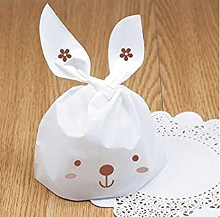 Yunko 50 PCS Cute Rabbit OPP Cookie Bakery Candy Biscuit Treat Gift DIY Plastic Bag