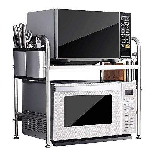ZMW Acero Inoxidable Soporte para Microondas,2 niveles encimera Organizador Estanteria Cocina,soporte…