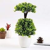 1Pc Topf künstliche Blumen-Dual-Layer Bonsai Etage Gartenhaus-Partei-Dekor: Grün