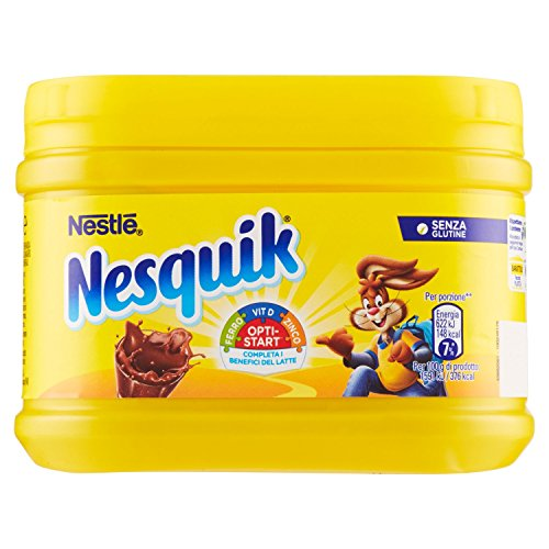 Nesquik Opti-Start Cacao Solubile per Latte Barattolo, 250g