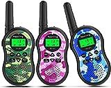 Nestling® HK-688 Walkie Talkies para niños Mini radios de 2 vías de Largo Alcance para niños, niñas, niños pequeños, Aventuras externas, campamentos, Caminatas (Paquete de 3, Camuflaje)