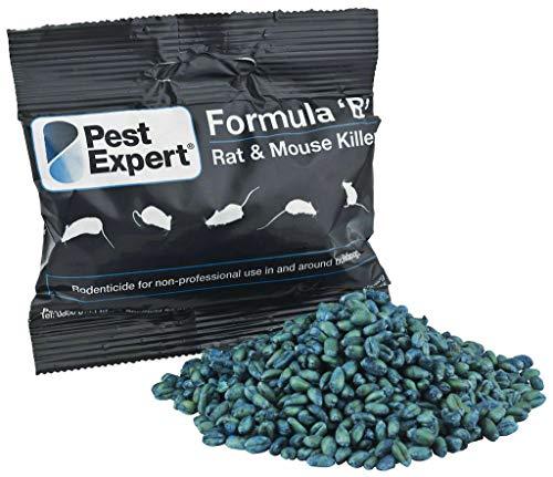 Pest Expert Formula 'B+' Rat and Mouse Killer Poison 1kg (10 x 100g) - Strongest Maximum Strength - Single Feed Brodifacoum