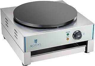 Royal Catering - RCEC-3000-R - Crepes Maker - 3000 Watt - Rostfritt stål - Smatter-distributör ingår