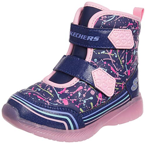 Skechers 302653N-NVMT lllumi-Brights Kinder Babyschuh wasserabweisendes Nylon, Groesse 22, lila/rosa