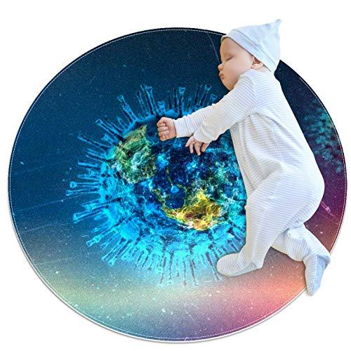 HDFGD Concept Art Baby crawling mat spelen deken vloer play mat kinderen baby kinderen mobiele circulaire tapijt, 27.6x27.6IN