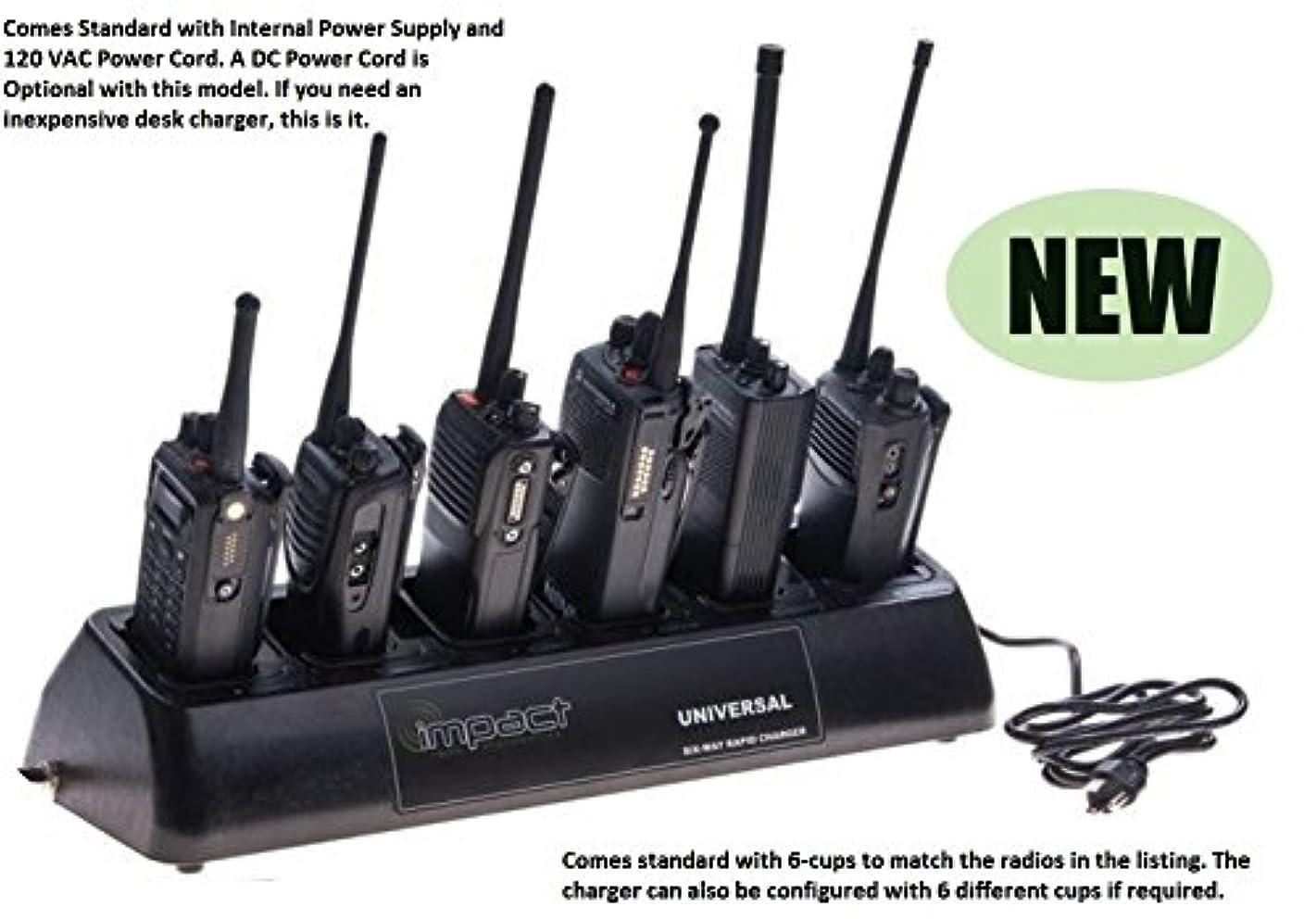 Impact Quad Chemistry Six Bay 120 Volt AC & 12 Volt DC (Optional) Portable Radio Battery Charger fits: Kenwood Radio Models: TK2140 / TK3140 / TK2160 / TK3160 / TK2170 / TK3170 / TK2360 / TK3360 / TK3173 / TH-072A / Nexedge NX200 / Nexedge NX320, Battery Models: KNB24L / KNB25A / KNB26N / KNB35L / KNB40LC / KNB55L / KNB56N / KNB57L