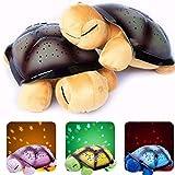 Diseño Lindo LED Luz Nocturna Cielo Estrellado Proyector Bebé Juguetes Niños Novedad Niños Música Lámpara de Tortuga Música Lámpara de Tortuga B