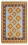 HAMID - Alfombra Kilim Lori con Diseño Moderno - 100% Lana - Alfombra Tejida a Mano - Alfombra de Pasillo, Salón, Dormitorio, Sala de Estar, Entrada (D.3, 170x120 cm)