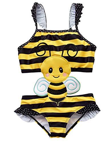 kavkas Baby Mädchen Badeanzug Einteiler Bademode süß Schwimmanzug Bikini (Biene, 12 Monate)