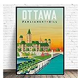 Gigoo Ottawa Travel Art Leinwand Poster Drucken Wohnkultur