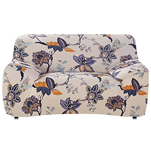 WXQY Funda de sofá de Sala de Estar Funda de sofá elástica Funda de sillón en Forma de L Funda de sofá Antideslizante Todo Incluido Funda de sofá de Esquina A4 3 plazas
