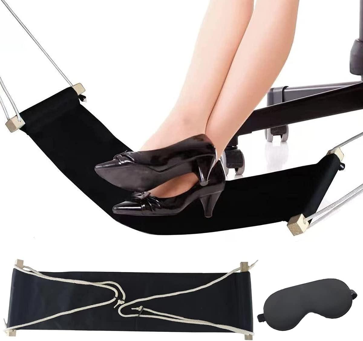 Foot Hammock Under Desk Rest Directly managed store OFFicial site Mat Mask Adjustable with Eye Black