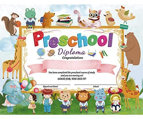 """Preschool Diploma Kindergarten Certificate 8.5"""" X 11"""" Pack of 30"""