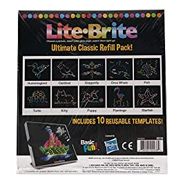 Basic Fun Lite-Brite Peg and Template Refill Pack