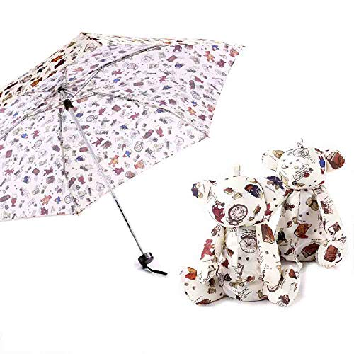 BJDKF paraplu zoals regen kwaliteit mini paraplu zak draagbare reizen paraplu's regen vrouwen kleine mode vouwen cartoon draak paraplu, transparent bear