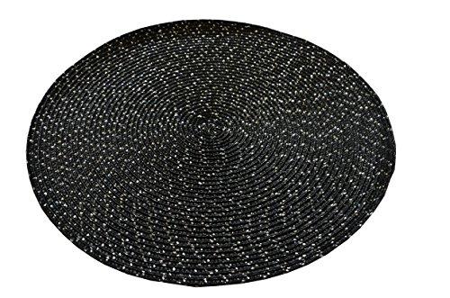 Calitex SOV0436X71A Colores 6 Set de Tables Bambou Noir 35 x 35 cm