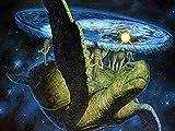 5D Pintura de Diamante Kits Punto de Cruz Terry Pratchett Tortugas Marinas Bordado de Cuentas Mosaico decoración del Hogar Arte de La Pared 11.8x15.8inch(30x40cm)