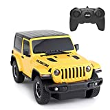 RASTAR RC Toy, 1/24 Scale Wrangler JL Remote Control RC Car, Rubicon Model Vehicle for Kids, Yellow