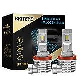 Briteye Bombilla H11 LED Coche 6500K H8 H9 H16 Blancas DC 12V/24V Faros Luces LED Coche(2pcs)