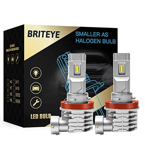 H11 LED Bombilla Coche 6500K Blanco H9 H8 Lampara DC 12V/24V Faros Luces LED Coche(2pcs)