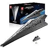 Molde Rey 13134,Maqueta de Destructor Estelar Technic,Star 7588 Bloques de terminales Star Wars Imperial Star Destroyer compatible con Lego A,134 * 48 * 20cm