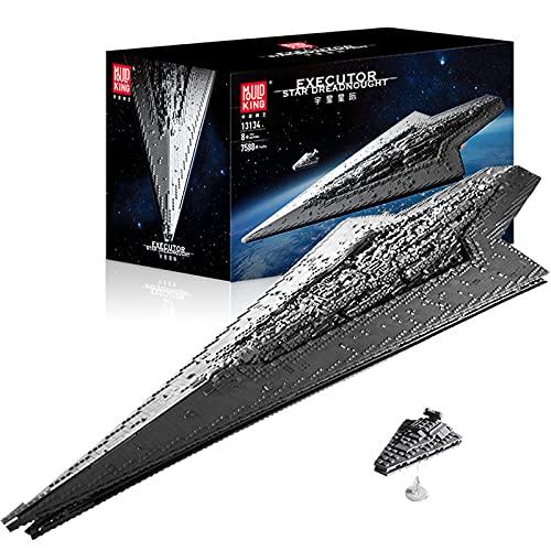 Re Della Muffa 13134,Kit Modello Technic Star Destroyer,Morsettiere Star 7588 Star Wars Imperial Star Destroyer Compatibile Con Lego A,134 * 48 * 20cm