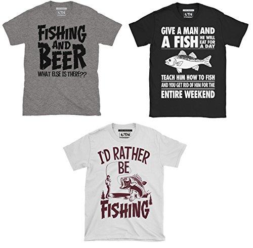 6TN Paquede Triple de Hombre Pesca/Pesca con Caña Temática Camisetas