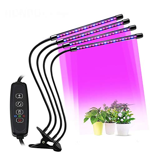 CESULIS DC5V - Lámpara USB LED de crecimiento con luz USB, espectro completo con control para plantar plántulas, flores en el interior, caja de cultivo, luz de crecimiento de plantas (color: 1 cabeza)