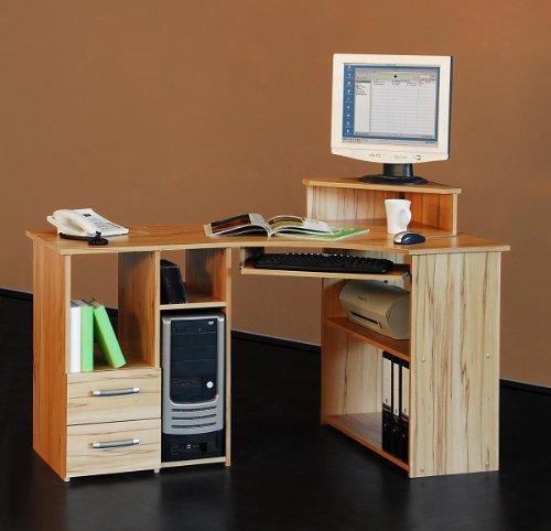 Möbeldesign Team 2000 Eckschreibtisch PC Tisch Computertisch kernbuche, 4505-1
