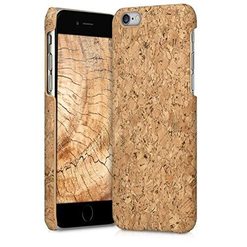 kwmobile Hülle kompatibel mit Apple iPhone 6 / 6S - Kork Handyhülle - Handy Case Cover Schutzhülle in Hellbraun