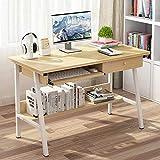 HEMFV Escritorio ergonómico para computadora Computadora de escritorio, madera de la computadora de escritorio, la tabla PC portátil con cajón for teclado Bandeja, 2 Capa Equipo estación de trabajo Es