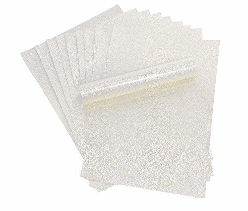 Puur wit A4 Glitter Papier Sparkly Soft Touch Niet Schuur 100 grams Pack van 10 vellen
