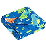 Mr. Sandman 5 lbs Weighted Blanket for Kids Twin Size Bed, Perfect for 40-60lb Girls/Boys Organic Cotton Heavy Blanket with PremiumGlass Beads - 36' x 48' Dinosaur Park