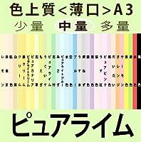 色上質(中量)A3<薄口>[ピュアライム](1000枚)