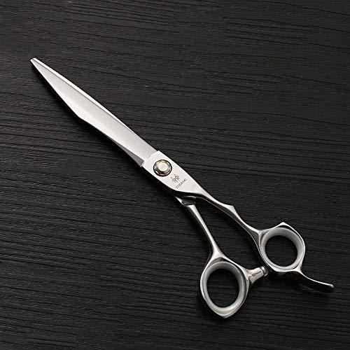 7,0 Zoll Messer Axt Big Cut Flat Shear 440C Hochwertiger Stahl Pet Straight Cut,Ideales Werkzeug für Friseure (Farbe : Silver)