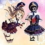 GGOODD Anime Love Live Kotori Minami Cosplay Costume Womens Halloween Police Uniform Lolita Sexy Party Full Set,Black,M
