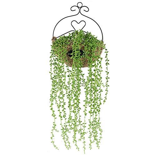 HUAESIN 5 Pcs Künstliche Sukkulenten 82cm Lang Künstliche Hängepflanze Grün Plastik Pflanzen Hängend Kunstpflanzen für Hängeampel Blumenkasten Draußen Balkon Garten Zuhause Wand Deko
