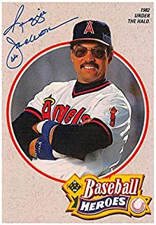 Reggie Jackson baseball card 1990 Upper Deck Heroes #5 (California Angels Naked Gun)