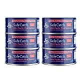 Safe Catch Elite, Wild Pink Salmon, Mercury Tested, No Salt Added, 5 oz Can (Pack of 6)
