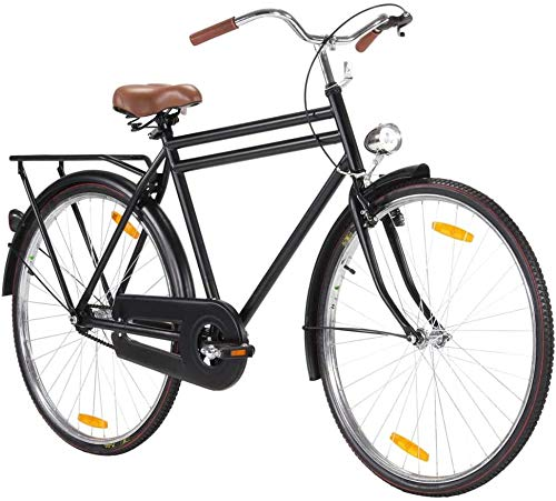 28 Inch Single Speed Adult Mountain Bike, Dutch Bike Steel Frame Mens Womens Mountain Bicycle Commuter City Road Bike Outdoor Sports City Urban Bicycle 【UK STOCK】