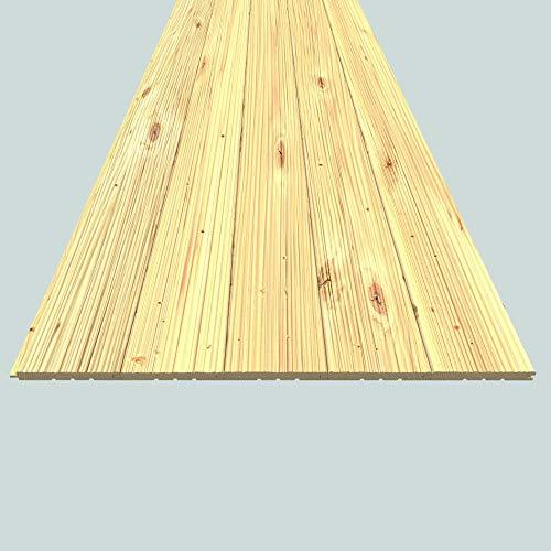 Rettenmeier 14x121x2000mm Profilholz Fase, Struktur gehobelt Massivholzprofile für Wand und Decke Fichte/Tanne B-Qualität PEFC zertifiziert, Unbehandelt